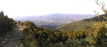Visión desde las montañas de Rodna Imagen de archivo
