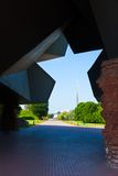 Visión desde las puertas del fuerte de Brest Fotografía de archivo
