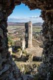 Visión desde las ruinas del castillo de Divin, Eslovaquia foto de archivo