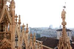 Visión desde los di Milano, Italia del Duomo Fotos de archivo