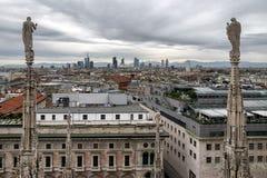 Visión desde Milan Cathedral, Italia Fotografía de archivo libre de regalías