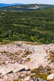 Visión desde Mont Jacques-Cartier Imagen de archivo libre de regalías