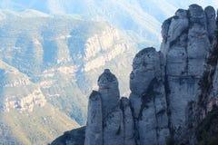 Visión desde Montserrat Foto de archivo libre de regalías