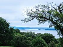 Visión desde Mt Vernon Potomac River imagen de archivo