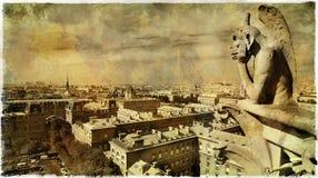visión desde Notre Dame Fotografía de archivo libre de regalías