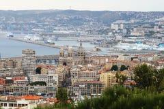 Visión desde Notre Dame de la Garde sobre el puerto de Marsella, Francia Fotos de archivo libres de regalías
