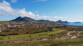 Visión desde Oporto Santo, islas de Madeira Foto de archivo