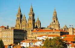 Visión desde Parque DA Alameda - Santiago de Compostela imagenes de archivo