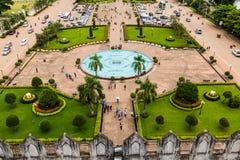 Visión desde Patuxai, Vientián, Laos Imagen de archivo