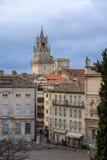 Visión desde Place du Palais en Aviñón, Francia Fotografía de archivo libre de regalías
