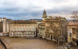Visión desde Place du Palais en Aviñón, Francia Imagenes de archivo