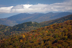 Visión desde Ridge Parkway azul  Fotografía de archivo libre de regalías
