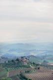 Visión desde San Gimignano en Italia Foto de archivo libre de regalías