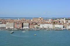 Visión desde San Giorgio Maggiore imágenes de archivo libres de regalías