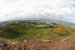 Visión desde Seat de Arturo, Edimburgh Fotos de archivo