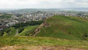 Visión desde Seat de Arturo, Edimburgh Imagen de archivo