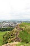 Visión desde Seat de Arturo, Edimburgh Imágenes de archivo libres de regalías