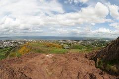 Visión desde Seat de Arturo, Edimburgo Fotografía de archivo