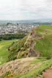 Visión desde Seat de Arturo, Edimburgo Imagen de archivo libre de regalías
