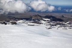 Visión desde Snaefellsjokull Imágenes de archivo libres de regalías
