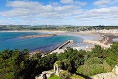 Visión desde St Michaels Mount Cornwall England fotografía de archivo