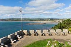 Visión desde St Michaels Mount Cornwall England Reino Unido fotos de archivo libres de regalías