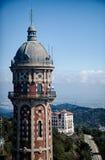 Visión desde Tibidabo en Barcelona Imagen de archivo libre de regalías