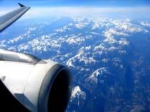 Visión desde un avión de reacción Fotos de archivo libres de regalías