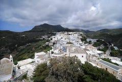 Visión desde un castillo en la isla de Kithira Fotos de archivo