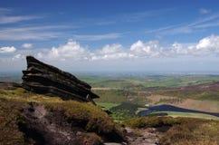 Visión desde un explorador más bueno (distrito máximo, Inglaterra) Fotografía de archivo libre de regalías