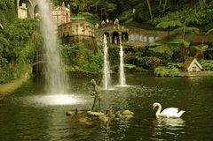 Visión desde un parque en Funchal, Madeira Imagenes de archivo