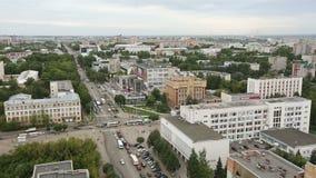 Visión desde un rascacielos en la ciudad de Kirov almacen de metraje de vídeo