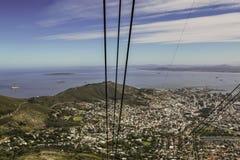 Visión desde un teleférico en la montaña de la tabla foto de archivo libre de regalías