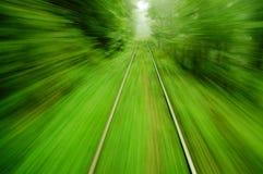 Visión desde un tren expreso Fotos de archivo