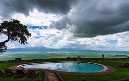 Visión desde una casa de campo del safari Imagen de archivo