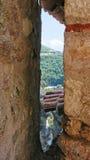 Visión desde una cueva en la pared Imagen de archivo libre de regalías