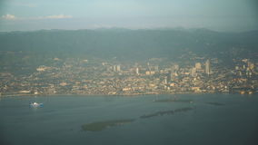 Visión desde una ventana del aeroplano Manila, Filipinas metrajes