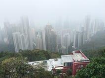 Visión desde Victoria Peak, Hong Kong Fotografía de archivo