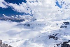 Visión desde Zugspitze alemania Fotos de archivo libres de regalías