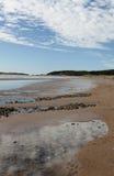 Visión dramática desde la playa de Newborough Anglesey, País de Gales Fotografía de archivo