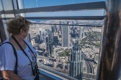 Visión Dubai céntrico imagen de archivo libre de regalías