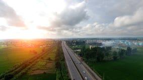 Visión elevada carretera fotos de archivo
