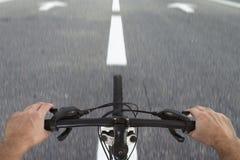 Visión en el camino de la bicicleta Imágenes de archivo libres de regalías