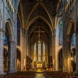 Visión en el coro de la catedral Saint Paul en Lieja - Bélgica fotos de archivo libres de regalías