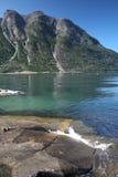 Visión en el fiordo noruego Fotos de archivo libres de regalías