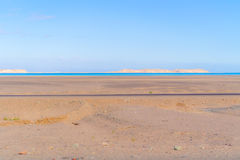 Visión en el golfo de Suez y el Sinaí Foto de archivo