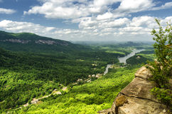 Visión en el señuelo del lago en Carolina del Norte de la roca de la chimenea Fotografía de archivo libre de regalías