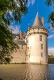 Visión en el sur el Loira de Sully del castillo francés Fotografía de archivo libre de regalías