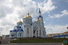 Visión en el templo del icono de Kazán de la madre de dios en Saransk, Repulic Mordovia Fotos de archivo libres de regalías