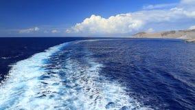 Visión en la bahía de Lindou de la isla de Lindos Rodas, Grecia metrajes